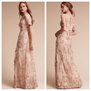 Adrianna Papell BHLDN Floral Embroidered Dress NWT